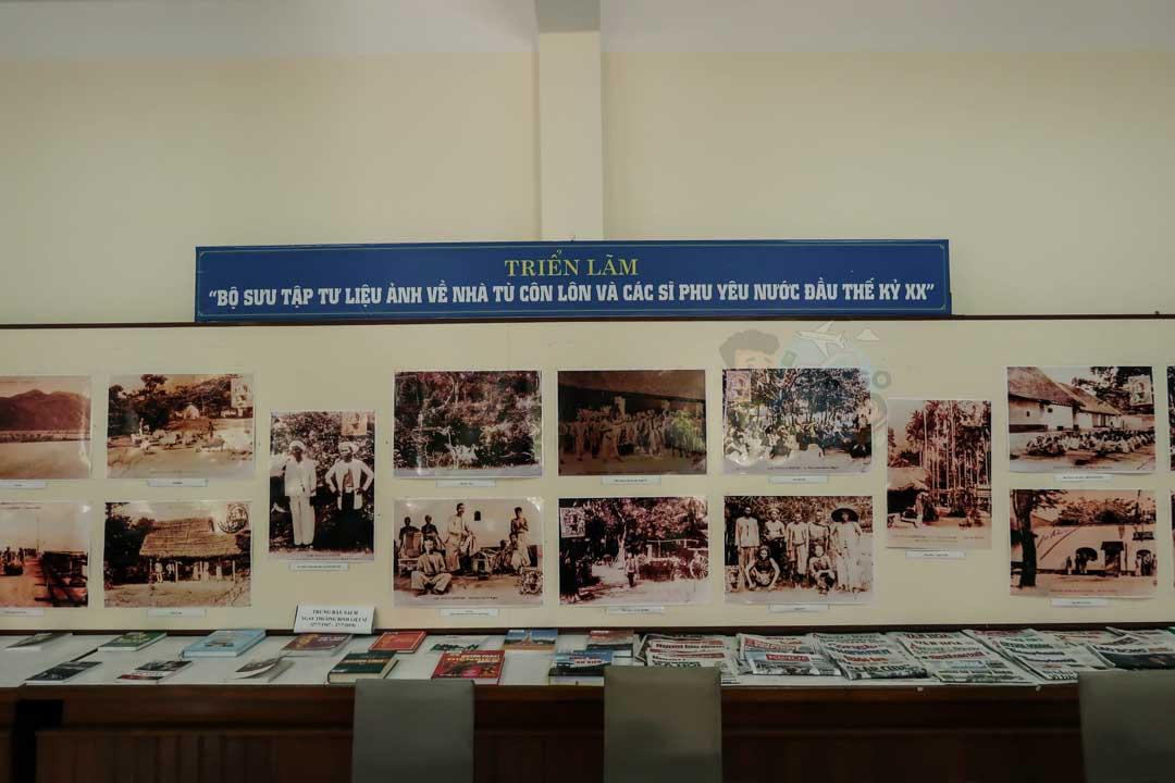 Khu trưng bày trong thư viện Đà Lạt